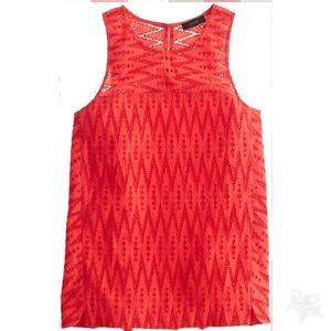 J. Crew seamed shell zigzag eyelet top